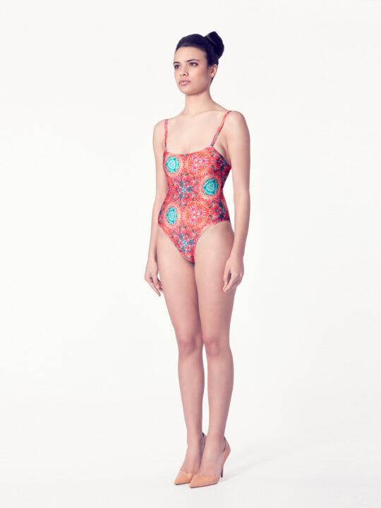 CREPIS Bañador básico – Vista normal – Estampado rojo – nadadora.com.es – swimwear