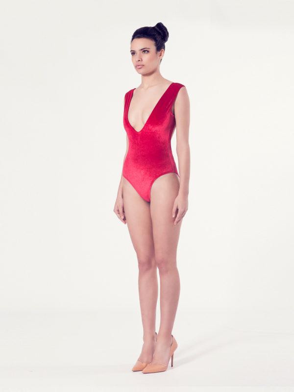 CAMPANULA Bañador básico – Vista normal – Liso granate – nadadora.com.es – swimwear