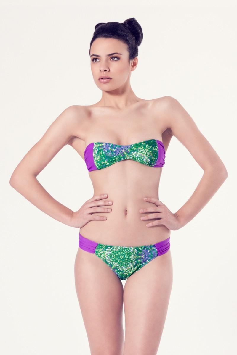 ACHILLEA Bikini tendencia – Vista frontal – Estampado verde – nadadora.com.es – swimwear