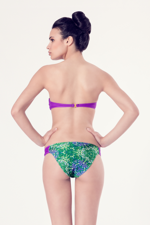 ACHILLEA Bikini tendencia – Vista trasera – Estampado verde – nadadora.com.es – swimwear