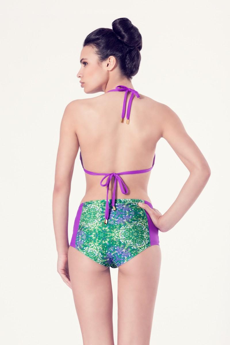 ALLIUM Bikini tendencia – Vista trasera– Estampado verde – nadadora.com.es – swimwear