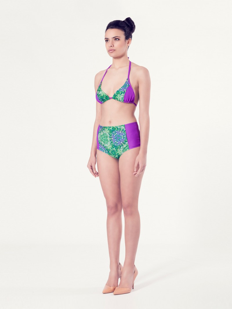 ALLIUM Bikini tendencia – Vista normal– Estampado verde – nadadora.com.es – swimwear