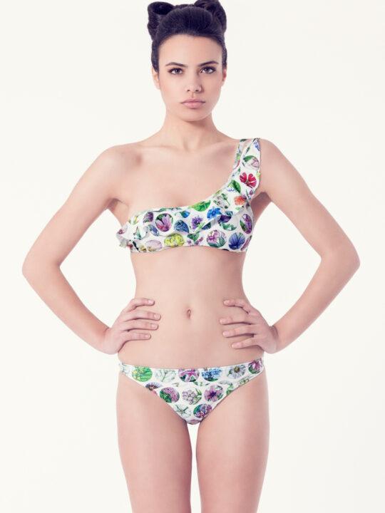 MALVA Bikini tendencia – Vista frontal– Estampado blanco – nadadora.com.es – swimwear