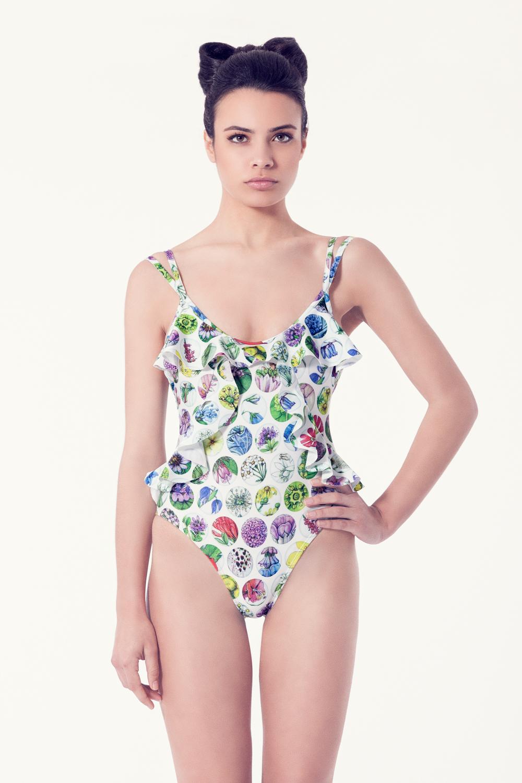 SILENE Bañador tendencia – Vista frontal – Estampado blanco – nadadora.com.es – swimwear