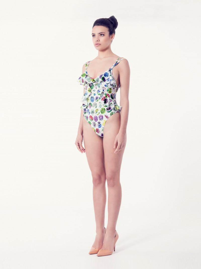 SILENE Bañador tendencia – Vista normal – Estampado blanco – nadadora.com.es – swimwear