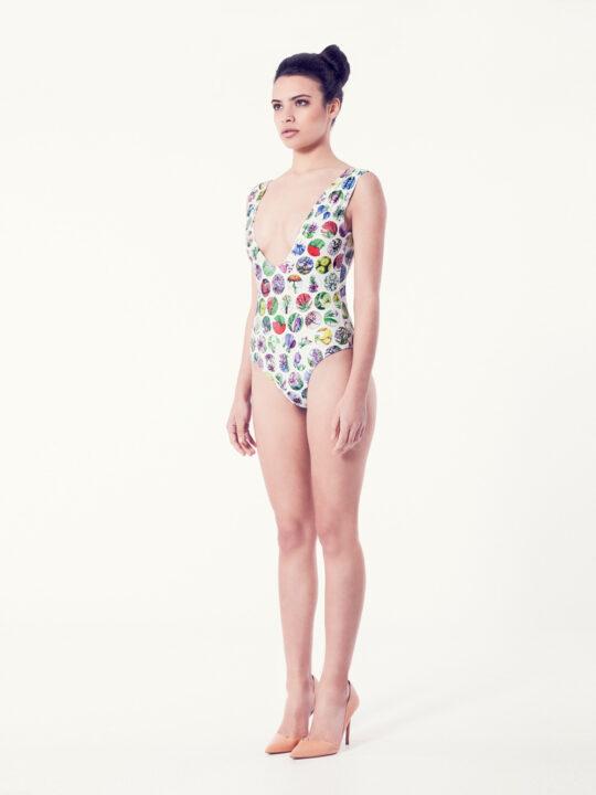 CAMPANULA Bañador básico – Vista normal – Estampado blanco – nadadora.com.es – swimwear