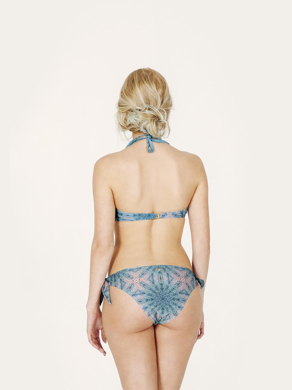 AMATA Bikini básico – Espalda– Estampado Verde/Coral – nadadora.com.es – swimwear