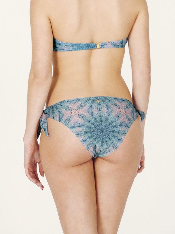 AMATA Bikini básico – Braguita – Estampado Verde/Coral – nadadora.com.es – swimwear