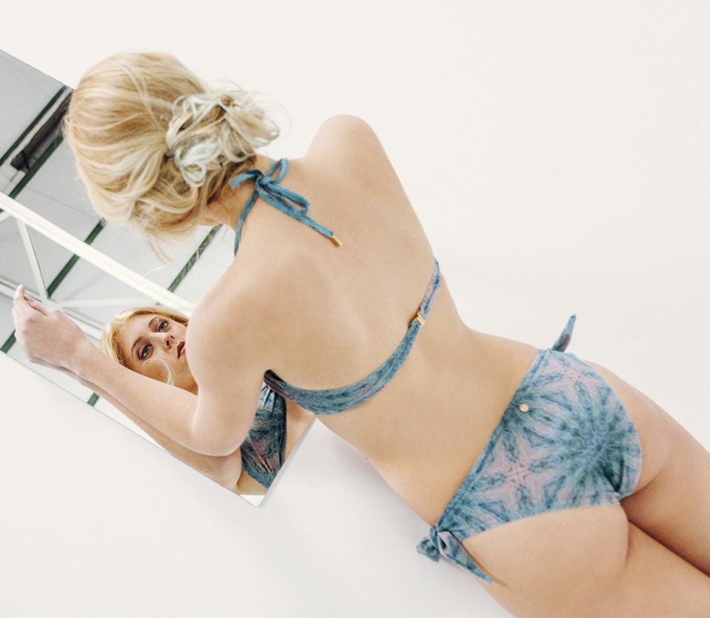 AMATA Bikini básico – Especial – Estampado Verde/Coral – nadadora.com.es – swimwear
