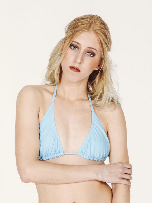 CAMILA Bikini básico – Top – Liso Azul – nadadora.com.es – swimwear