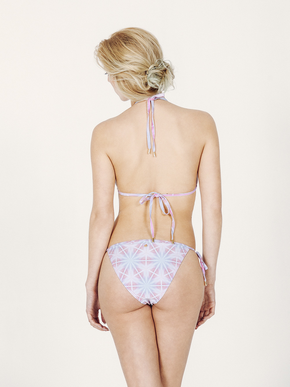 CAMILA Bikini básico – Espalda – Estampado AZUL/ROSA – nadadora.com.es – swimwear