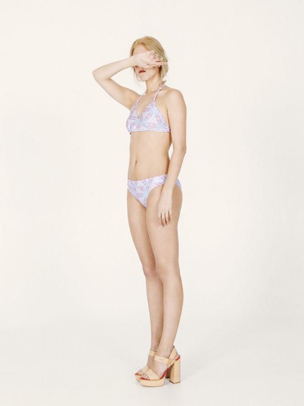 CARMENTA Bikini básico – Especial – Estampado AZUL/ROSA – nadadora.com.es – swimwear