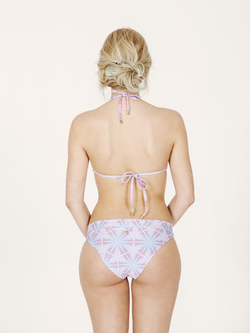 CARMENTA Bikini básico – Espalda – Estampado AZUL/ROSA – nadadora.com.es – swimwear