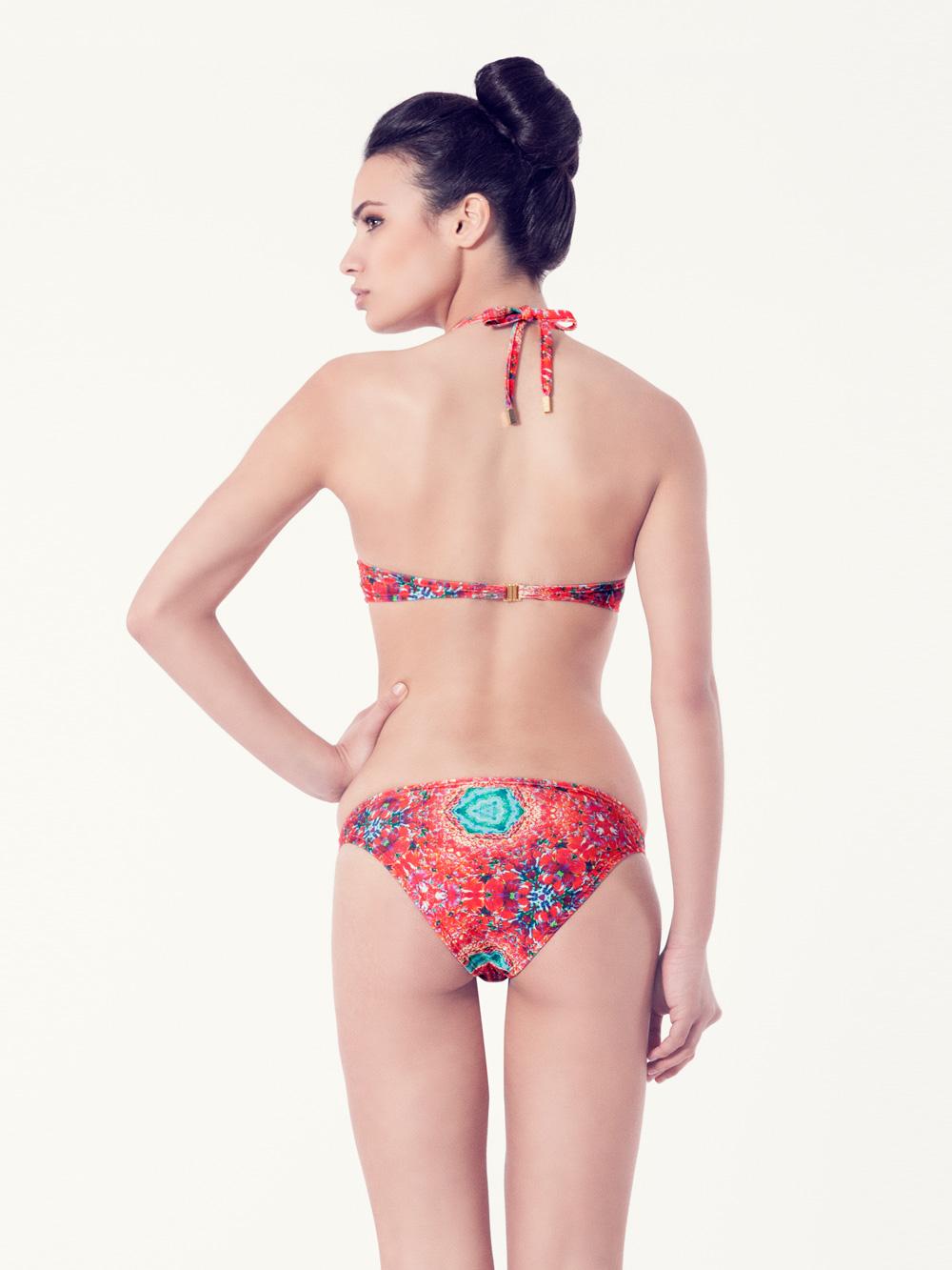 PERSICARIA Bikini básico – Vista trasera – Estampado rojo – nadadora.com.es – swimwear