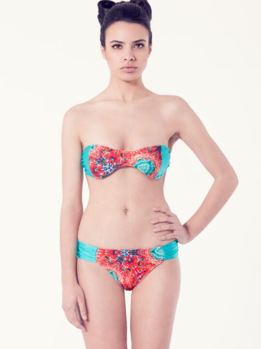 ACHILLEA Bikini tendencia – Vista frontal– Estampado rojo – nadadora.com.es – swimwear