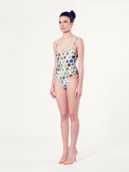 CREPIS Bañador básico – Vista normal – Estampado blanco – nadadora.com.es – swimwear
