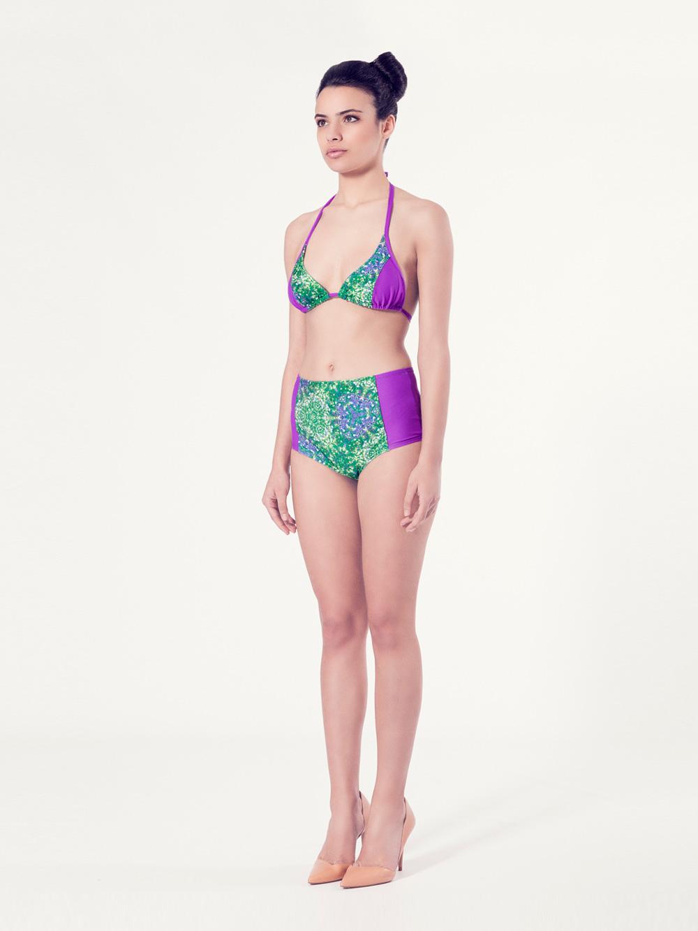 ALLIUM Bikini tendencia – Vista normal– Estampado verde – nadadora.com.es – swimwear
